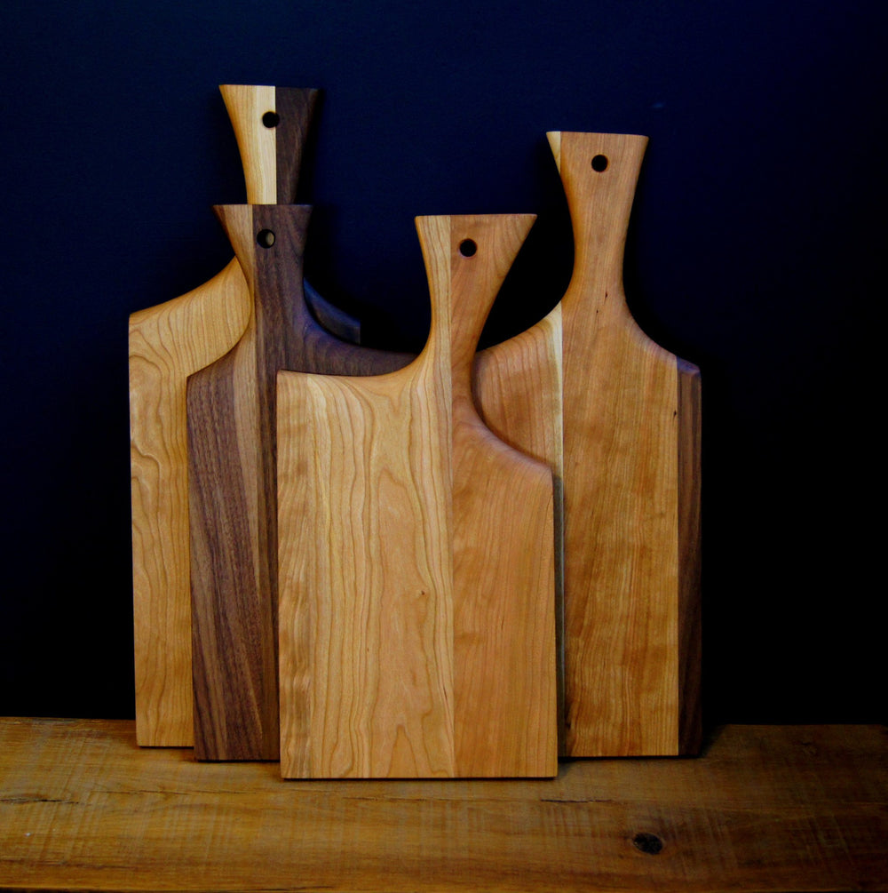 Paddle Mixed Wood Cutting Board