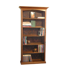 Custom Traditional style Craftsman bookcase in Walnut and Walnut Burl