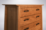 Enso 5 Drawer Upright Dresser Solid Wood Handmade Organic