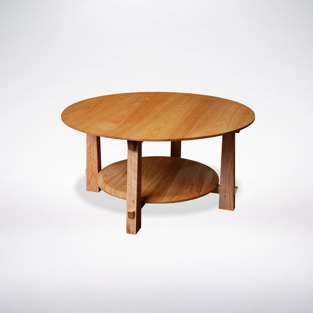 Enso Round Coffee Table Solid Wood Table Made In Columbus Ohio T Y Fine Furniture