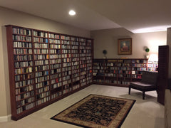 Custom built in shelving unit for Music collector in Dublin Ohio