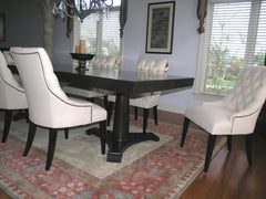 Contemporary French Inspired Double Pedestal dining Table
