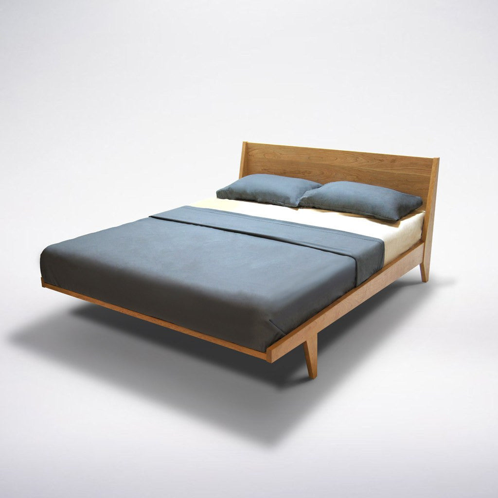 platform bed mid century solid wood handmade modern bedroom furniture - mid century modern platform bed