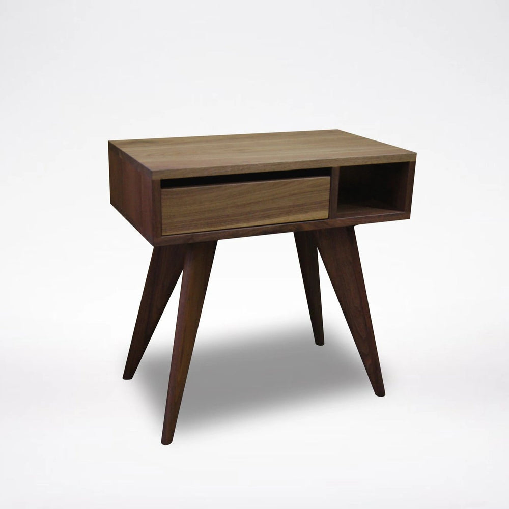 Walnut Dark Modern Side Table