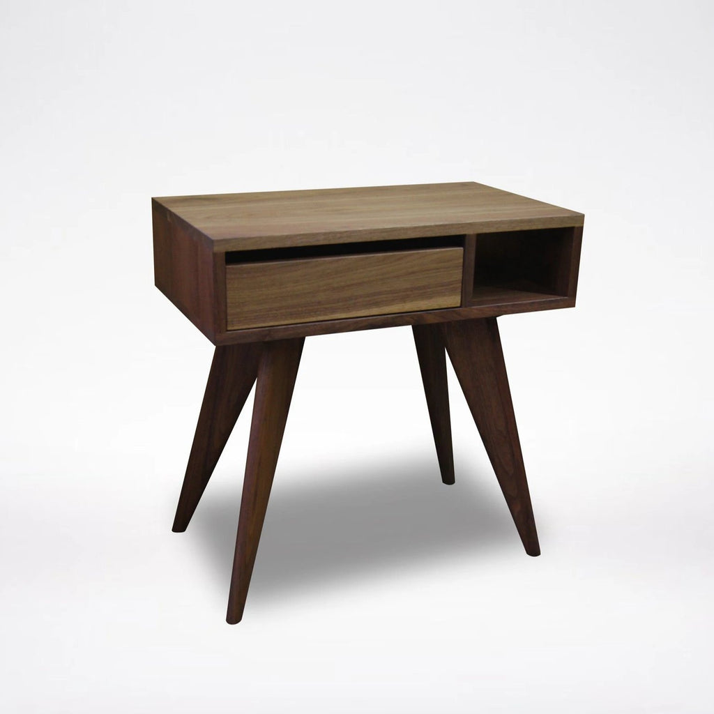 Image of: Modern Bedroom Furniture Side Table Solid Wood Mid Century Modern T Y Fine Furniture