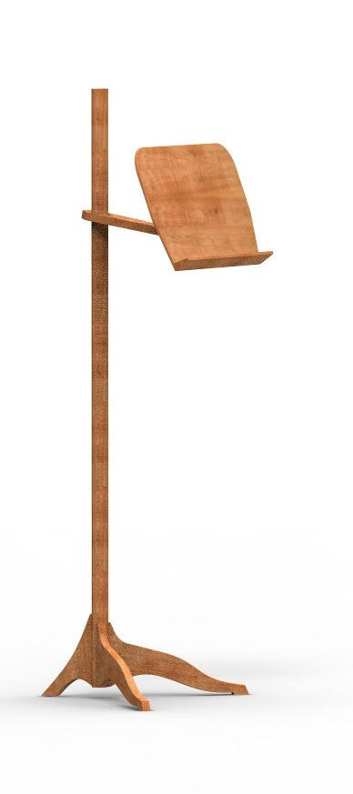 Music Stand Solid Wood Handmade Organic Unique