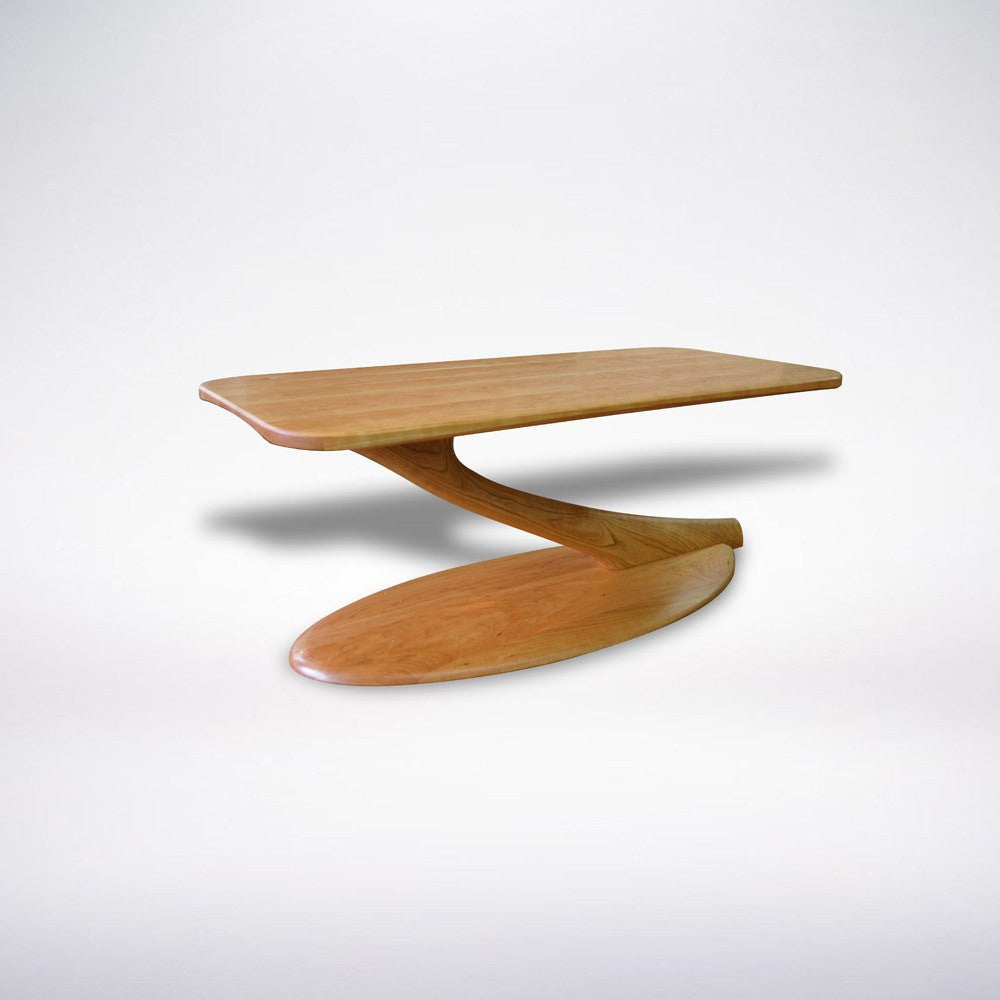 Cantilever Coffee Table Solid Wood Handmade Unique Organic Contemporary