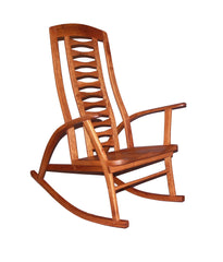 Custom Rocking Chair made for Upper Arlington, Ohio home, solid wood shaker style