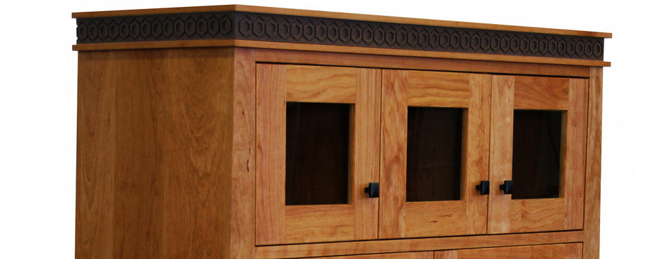 solid cherry hutch handmade