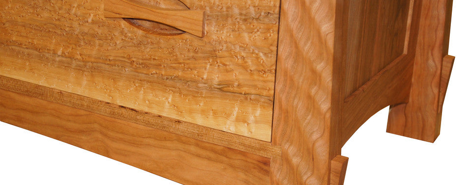 birdseye maple curly cherry dresser