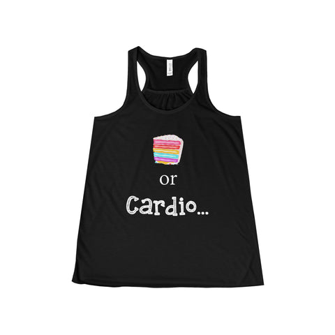 Cake or Cardio: Flowy Racerback Tank For Ladies