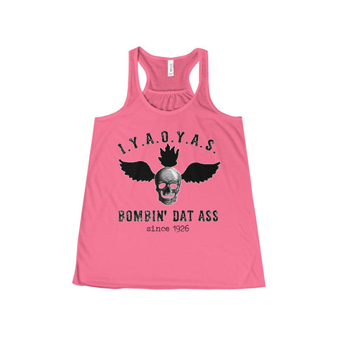 Bombin' Dat Ass: Flowy Racerback Tank For Ladies - KLH Collection