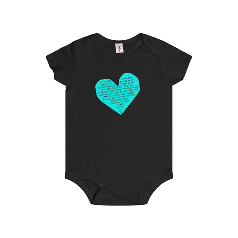 Rough Heart:Infant Rip Snap Tee For Babies