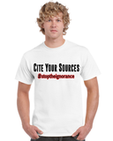 "Men's ""Cite Your Sources"" Ultra Cotton Tee - KLH Collection"