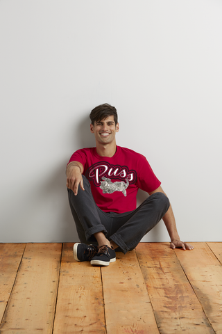 "Men's ""Puss"" Ultra Cotton Tee - KLH Collection"