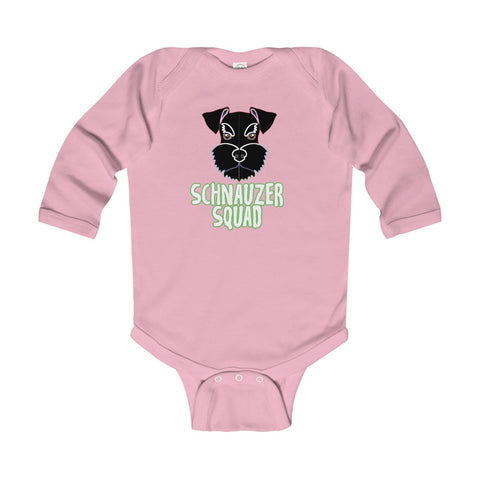 Schnauzer Squad Infant Long Sleeve Bodysuit - KLH Collection
