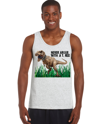 Men's Never Argue T-Rex Tank - KLH Collection