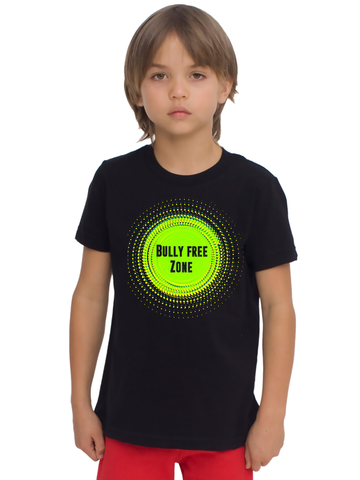 """Bully Free Zone"" Unisex Tee For Big Kids - KLH Collection"