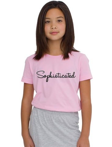 """Sophisticated"" Unisex Tee For Big Kids - KLH Collection"