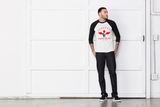 Bombin' Dat Ass: Sleeve Baseball Tee For Men