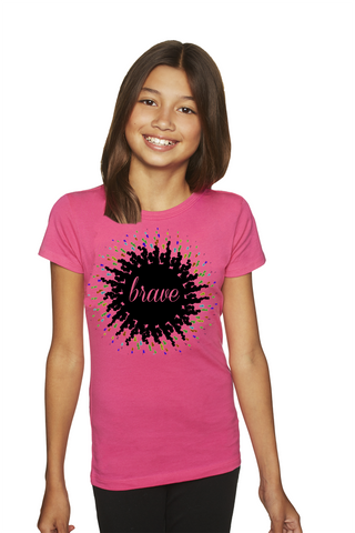 """Brave"" Princess Tee For Big Kids - KLH Collection"
