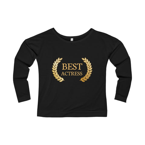 Women's Terry Long Sleeve Scoopneck T-Shirt - KLH Collection