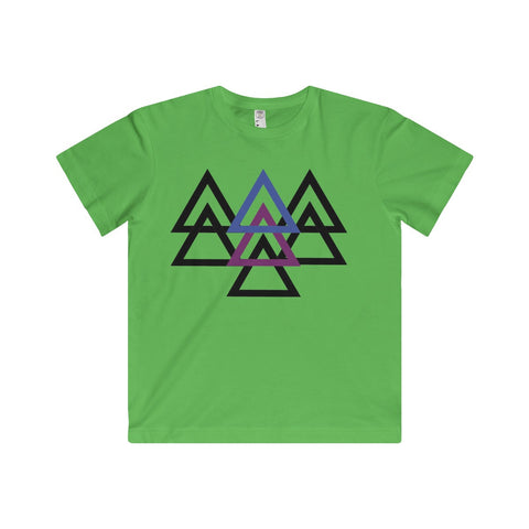 Triangles: Youth Fine Jersey Tee For Little Kids
