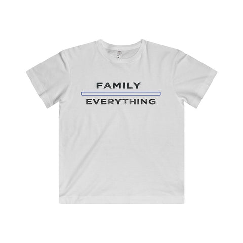 Family Over Everything: Fine Jersey Tee For Big Kids