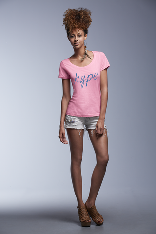 "Ladies' ""Hype"" Scoopneck T Shirt - KLH Collection"