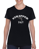 "Ladies' ""Strapped"" Heavy Cotton Tee - KLH Collection"