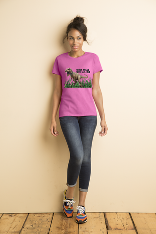 Ladies' Never Argue T-Rex Heavy Cotton T-Shirt - KLH Collection