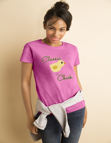 """Classic Chick"" Heavy Cotton Tee For Ladies - KLH Collection"