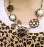 Heart & Bow Necklace - KLH Collection