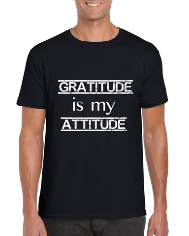 "Men's ""Gratitude Is My Attitude"" SoftStyle Tee - KLH Collection"