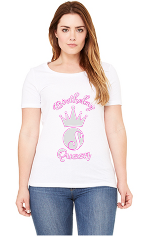 Birthday Queen: Relaxed Jersey Short Sleeve Scoop Neck Tee For Ladies
