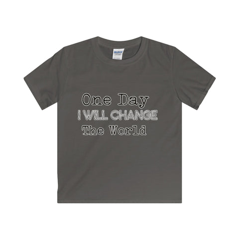 Change The World: Softstyle Youth T-Shirt For Big Kids