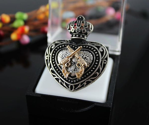 Crown & Gun Ring - KLH Collection