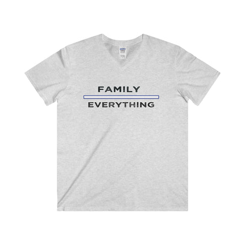 Family Over Everything: Softstyle® Adult V-Neck T-Shirt For Men