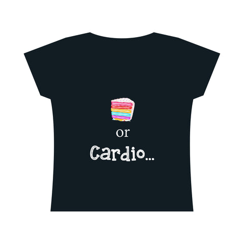 Cake or Cardio: Fine Jersey Scoop Neck T-Shirt For Ladies