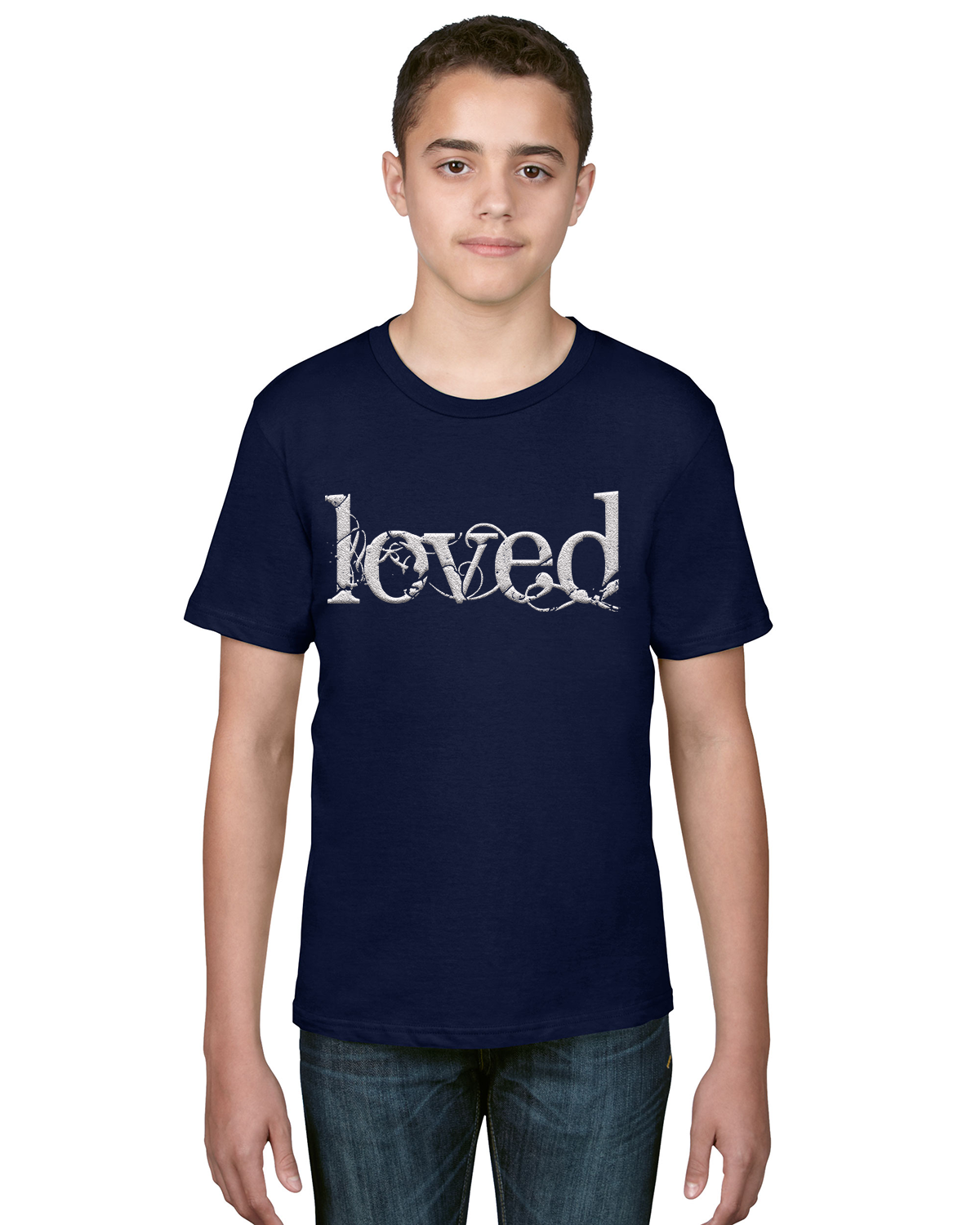 "Big Kids' Unisex ""Loved"" Tee"