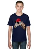 Fly Giraffe Unisex Tee for Big Kids - KLH Collection