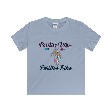Positive Vibe, Positive Tribe: Softstyle Youth T-Shirt For Big Kids