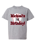 """Baseball Birthday"" Tee For Big Kids - KLH Collection"