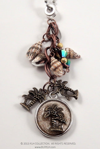 Copper Palm Necklace - KLH Collection - 1