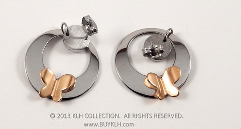 Butterfly Hoops Earrings - KLH Collection - 1