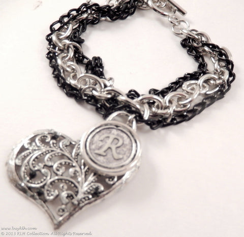 KLH's: Racquelle Initial Bracelet - KLH Collection - 1