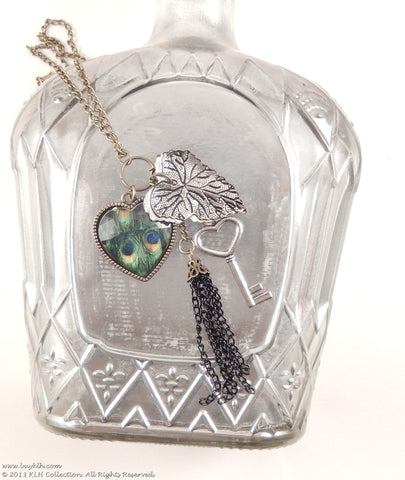 Peacock Tassel Necklace - KLH Collection