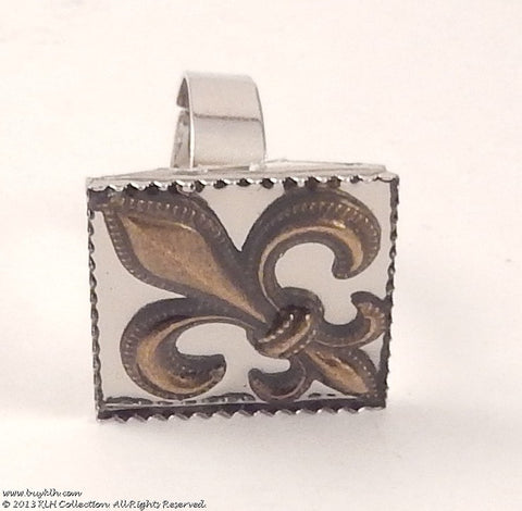 KLH's: Fleur Di Lis Square Ring - KLH Collection - 1