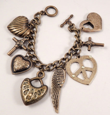 Peace Charm Bracelet - KLH Collection - 1
