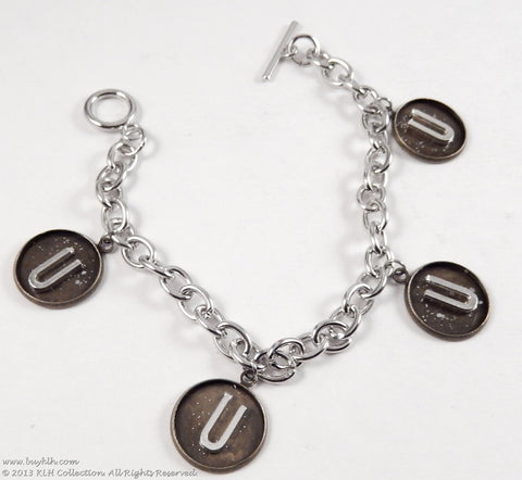 KLH's: 4 Initial Bracelet Bracelet - KLH Collection - 1